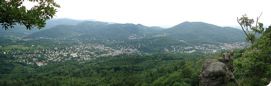 View down to Baden-Baden from the Batert rocks